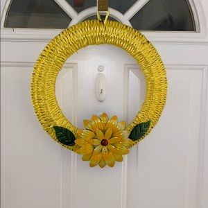 Bright Yellow weaved wreath